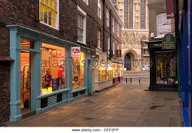 york shops. shops near york minster, york, yorkshire, england, united kingdom, europe -