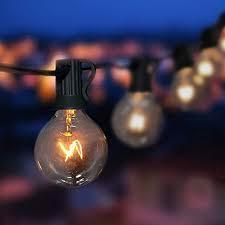 Globe Umbrella Lights Goothy Globe String Lights With G40 Bulbs 25ft Ul Listed