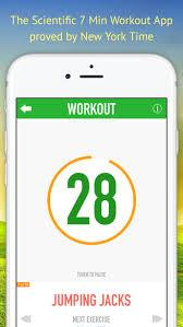 Scientific 7 Minute Workout Schedule Cardio Burn By Wanpen