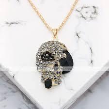 men s women s pendant necklace statement necklace necklace vintage style classic skull statement unique design punk rock gold plated chrome black 70 cm