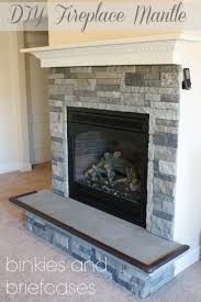 Mantel On Stone Fireplace Diy Stone Fireplace With Airstone O Binkies And Briefcases