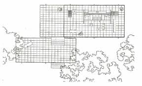 Plan of Farnsworth House by Mies van der Rohe. Source: D Spaeth,