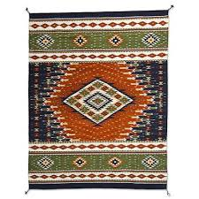 zapotec wool rug forest nights 4x6 forest theme zapotec wool
