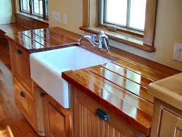 Finished Cabinet Doors Sink Cutouts In Custom Wood Countertops