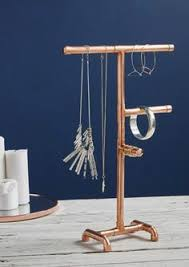 Jewelry Stands And Displays Copper Pipe Jewelry Tree Modern Jewelry Organizer Steampunk Design 65