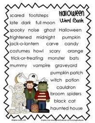have a spooky halloween template and school use this story paper and halloween word bank to inspire and help your students