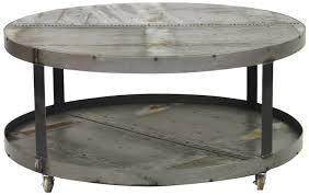 round metal coffee table grey premium material wonderful ideas decoration handmade rustic mission oak