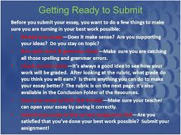 writing the diagnostic essay for the c assignment diagnostic getting ready to submit before you submit your essay you want to do a few