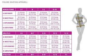 Girls Size Chart Mondor Apparel Size Charts Skaters Landing