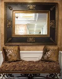 ornate baroque black gold wall mirror