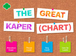 Girl Scout Daisy Kaper Chart Printable The Great Kaper Chart Girl Scouts River Valleys Volunteers