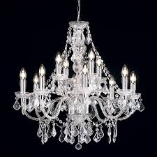 endon 308 8 4cl 12 light chandelier in clear acrylic