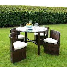 round patio table set round outdoor dining table set rattan wicker dining garden furniture set with