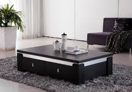 Image Of: Black Coffee Table With Storage