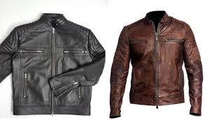 men s biker vintage motorcycle cafe racer brown distressed leather jacket black 1 of 8only 5 available see more