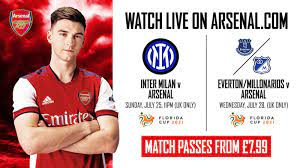 Watch Arsenal v Inter Milan LIVE on ...