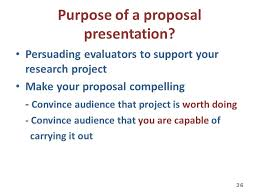 Presenting Your Research Proposal Presenting Your Research