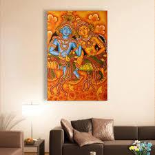 canvas painting beautiful radha krishna kerala mural art wall painting for living room bedroom