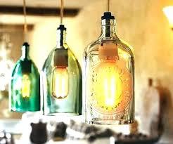 wine bottle pendant light kit lights hanging recycled lamp