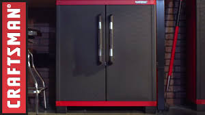 Resin Utility Cabinet Craftsman Resin Garage Storage System Youtube