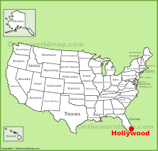 hollywood (florida) location on the us map