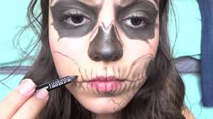 zombie boy skeleton makeup tutorial