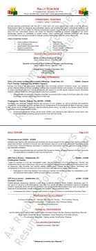 Sample Teaching Resumes For Preschool Preschool Teacher Resume