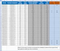 Control Horarios Excel Gratis