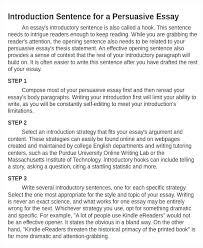 Persuasive Essay Introduction Paragraph Examples Examples Of Good