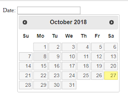 How to use Jquery UI date picker on HTML and JSP pages – ASB Notebook
