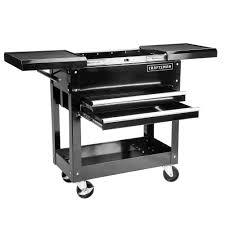 details about craftsman 31 in 2 drawers 1 shelf mechanic rolling tool cart diy garage black