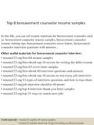 thumbnail 4jpgcb1437110405 top8bereavementcounselorresumesamples 150717051920 lva1 app6891 thumbnail 4 top 8 bereavement counselor resume samples vocational counselor resume