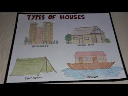How To Make A Chart Of Different Types Of Houses For School