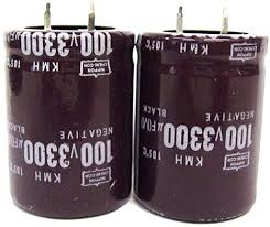 2Pcs Electrolytic Capacitors 100V 3300uF Volume <b>30x40</b> mm ...
