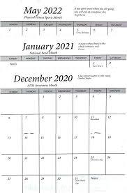 Callendar Planner 3 Year 2020 2021 2022 Pocket Calendar Planner Datebook Cardstock Cover One Calendar
