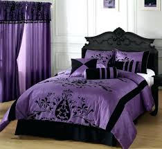 Bedroom Comforter And Curtain Sets Purple Bed Alil Me 11