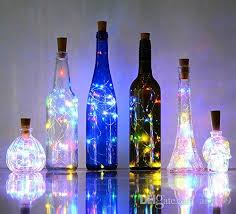 bottle lights cork shape mini string lights wine bottle fairy strip battery operated starry lights for diy wedding party decoratio string bulb