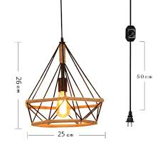 plug in industrial lighting. Kiven Plug-In Industrial Factory Chandeliers Retro Lighting 15ft UL Certification Black Cable With On Plug In X