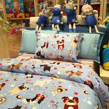 3 piece kids bedding set puppy family duvet cover bed sheet pillowcase
