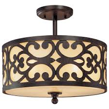 minka lavery nanti 3 light iron oxide semi flush mount light