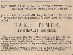king s collections online exhibitions hard times  advertisement from the same issue announcing the publication of the next weekly part of hard times