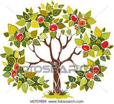 apple tree clipart. fruitful apple tree clipart