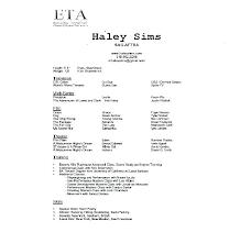 Acting Resume Beginner Resume For A Beginner Sample Of Acting Resume Beginner Actor Resume