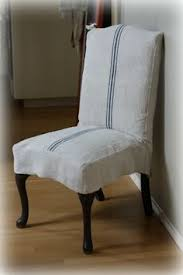 grain sack slipcover for dining chairs