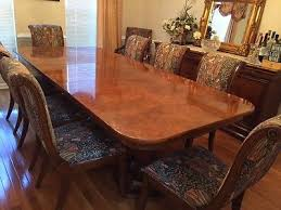 elegant henredon dining room table 10 chairs and buffet