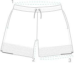 short size switchback short in waterfall myles apparel