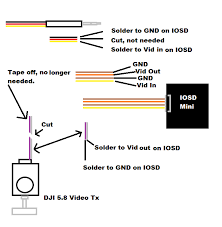 dji iosd mini to dji 5 8 video help dronevibes drones uav s for those who need assistance in the future it s not hard just didn t want to cut the wrong wires
