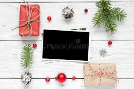 Blank Boxes To Decorate Blank Photo Card In Frame Made Of Fir Tree Branches Decorations 36