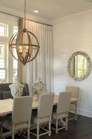 wooden dining room chandeliers homes rooms orb chandelier cottage beach banded curtains band large modern