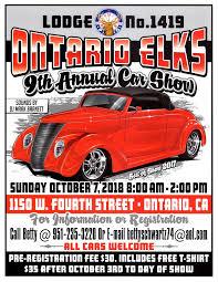ontario elks 9th annual car show